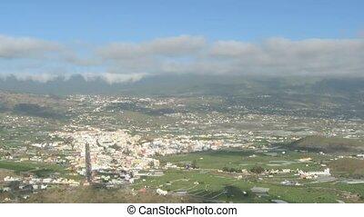 Time lapse Los Llanos, La Palma, Canary Islands, Spain. Pan...