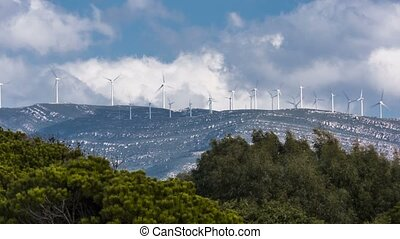 Time Lapse, Lots Of Windmills Near Tarifa, Andalusia, Spain
