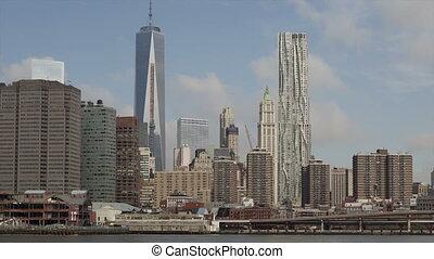 Time lapse Manhattan skyline