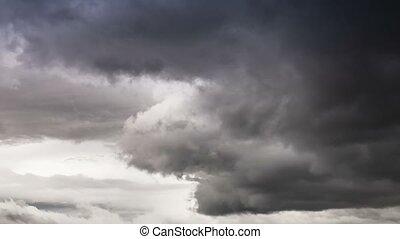 Time Lapse, Massive Storm Clouds