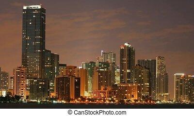 Time lapse Miami at night