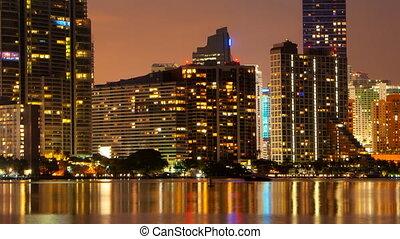 Time Lapse - Miami Skyline at dusk