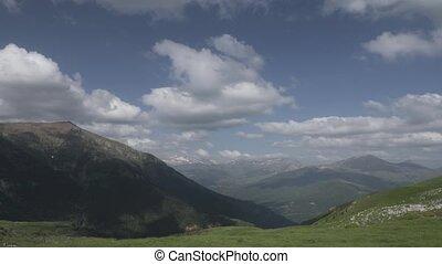 Time Lapse, Mirador Puerto De Sahun, Pyrenees, Spain -...