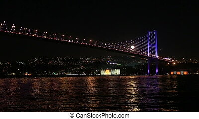 Bosporus Bridge - time lapse moonrise on the Bosporus Bridge...