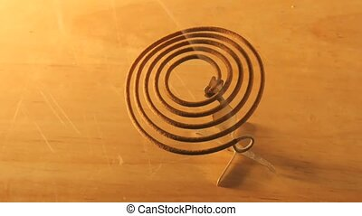 Time lapse mosquito coil burning away. 29,97 fps