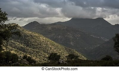 Time Lapse, Mountainous Andalusian Landscapes, Spain