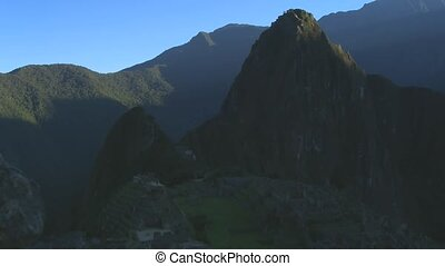 Time Lapse Movie Sunrise over ruins of Machu Picchu in Peru