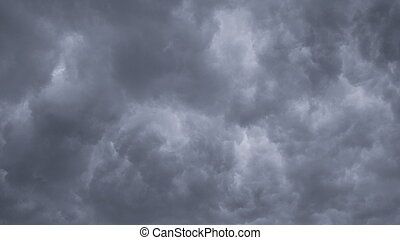 Time lapse Nature background Ominous clouds drift slowly ...