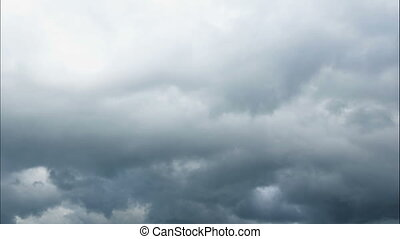 Time lapse Nature background Ominous clouds drift slowly...