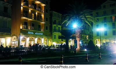 Time lapse: night life of Corfu