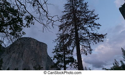 Time-lapse Nightfall in Yosemite