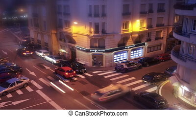 Time Lapse of a crossroad in Cannes