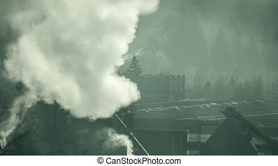 Time lapse of air polluting wood treatment plant