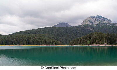 Beautiful mystical lake. Black Lake, Durmitor National Park....