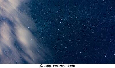 Time lapse of Beautiful night sky, cosmos.