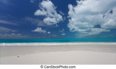 Time lapse of blue sky with clouds over Carribian sea, Cayo...
