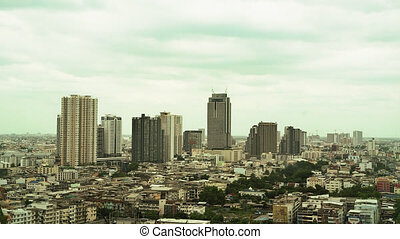 Time Lapse of Buildings in Bangkok