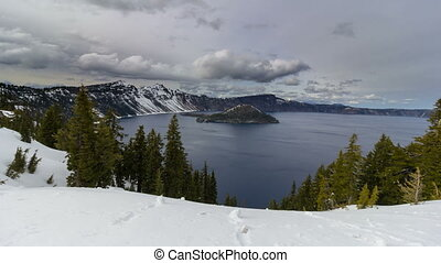 Time Lapse of Clouds in Crater Lake