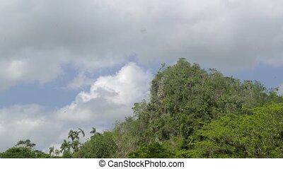 Time-lapse of clouds in Cuba - Timelapse in Vinales, Pinar...