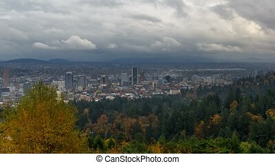 Time Lapse of Clouds in Portland OR
