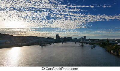 Time Lapse of Clouds in Portland OR - Time Lapse of Moving...