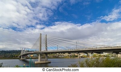 Time lapse of clouds in Portland Oregon - Time lapse of...