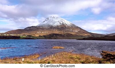 Time lapse of Errigal, the highest mountain in Donegal - Ireland.