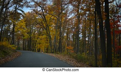 Time lapse of Fall drive - Time lapse of a drive through a...