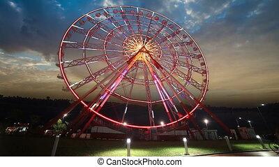 Time Lapse of ferris wheel in Batum