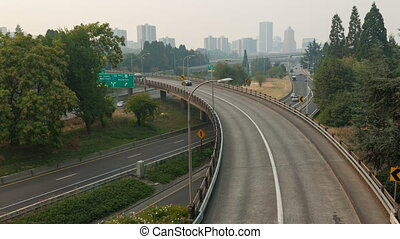 Time Lapse of Freeway Traffic PDX - Ultra High Definition 4k...