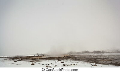 Time lapse of geyser eruption of Strokkur, Iceland