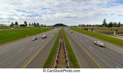 Time lapse of I-205 traffic Pdx OR - Ultra high definition...