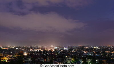 Time-lapse of Kathmandu at night