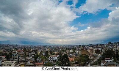 Time-lapse of Kathmandu in Nepal
