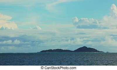 Time lapse of landscape at Seychelles islands