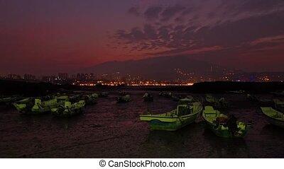 Time lapse of Last sunrise Port