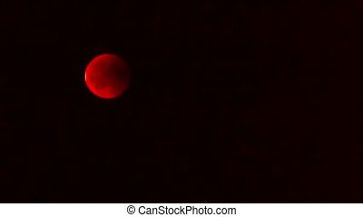 Time lapse of Lunar Eclipse 2018 Blood Moon.