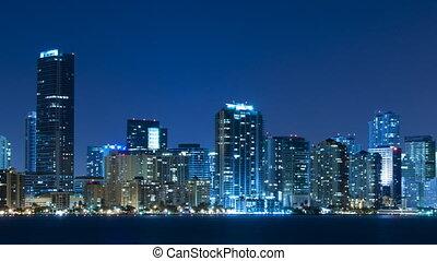 Time lapse of Miami skyline