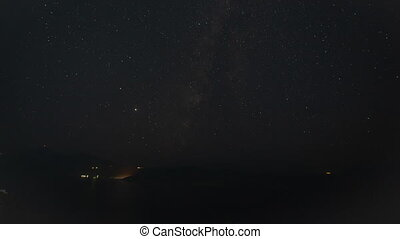 Time Lapse of Milkyway Galaxy at Night