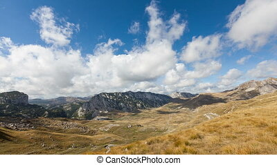 time lapse of Mountains inside a national park Durmitor