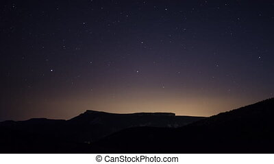 Time Lapse Of Night Sky And Stars - A beautiful night...