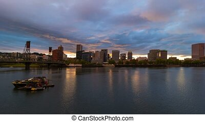 Time lapse of over Portland OR 4k