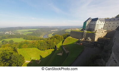 Festung Königstein - Time lapse of Panorama from Festung...