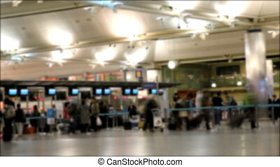 time lapse of people in the airport, shooting Canon 5D Mark II