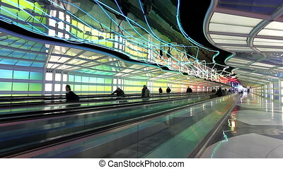Time Lapse of People Walking in Airport