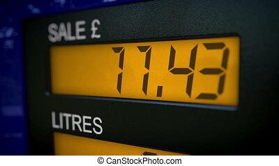 Time lapse of petrol pump