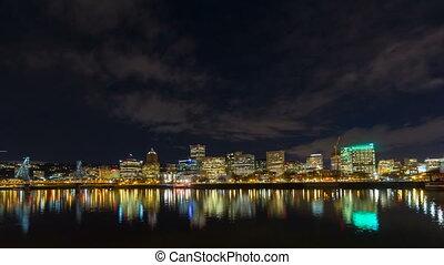 Time Lapse Of Portland Oregon City