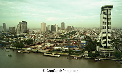 Time Lapse of River Chao Praya