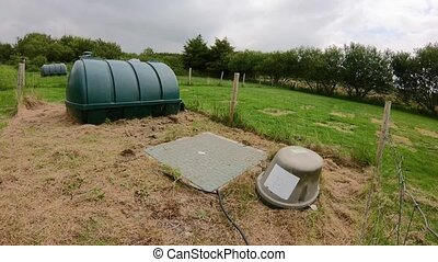 Time lapse of septic tank and oil tank.