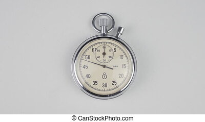 Time-lapse of Stopwatch on a white background